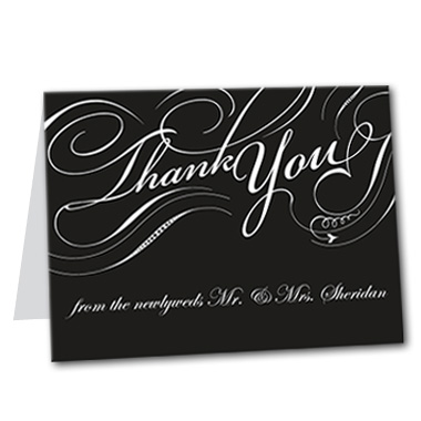 Formal Flourish Thank You Card