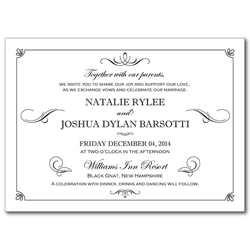 Formal Flourish Wedding Invitation