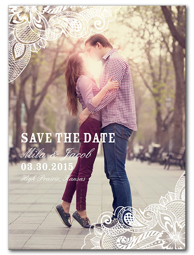 Framed Lace Save the Date
