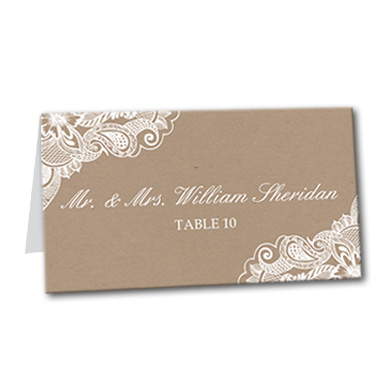 Framed Lace Table Card