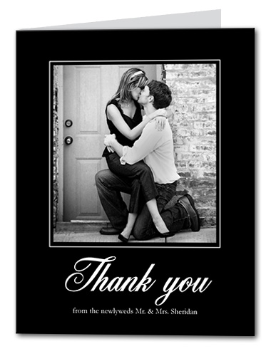 Framed Thank You Card