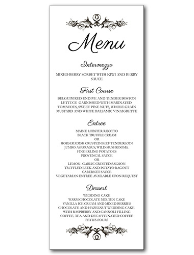 French Label Menu
