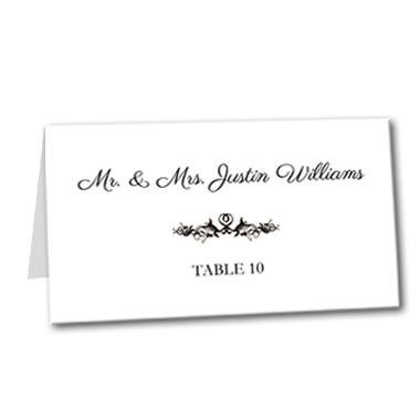 French Label Table Card