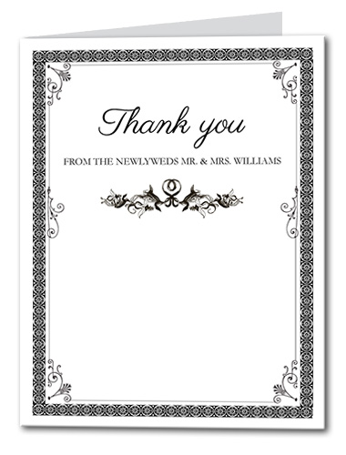 French Label Thank You Card