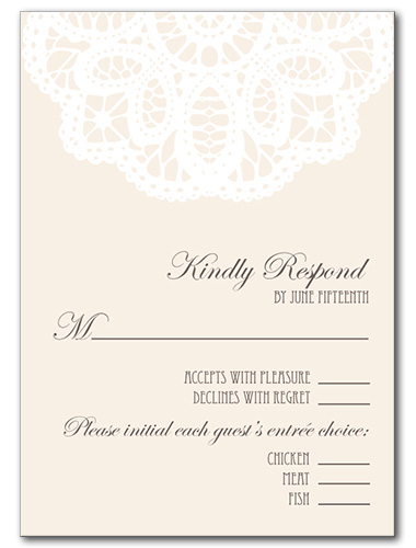 French Lace Response Card