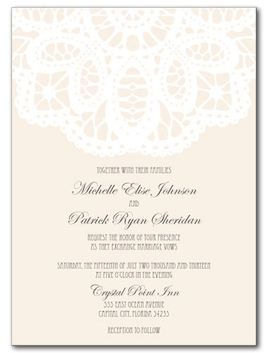 French Lace Wedding Invitation