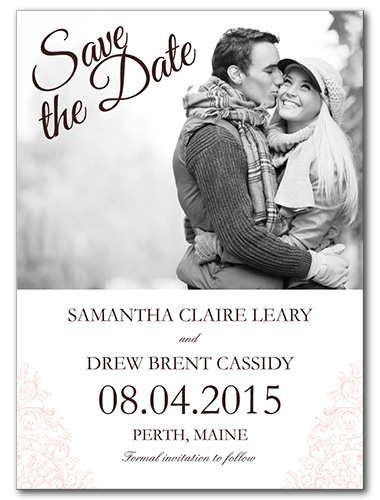 French Made Save the Date Card