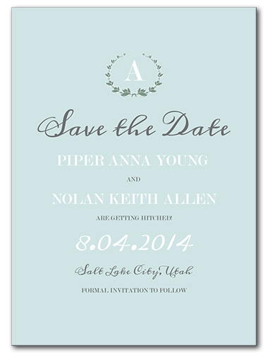 Fresh Mint Save the Date Card