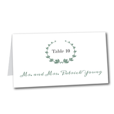 Fresh Mint Table Card