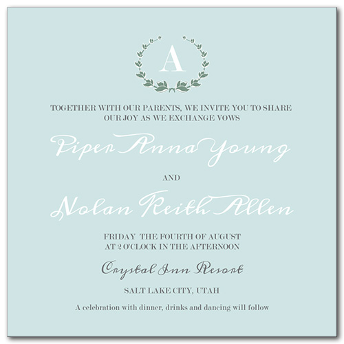 Fresh Mint Wedding Invitation