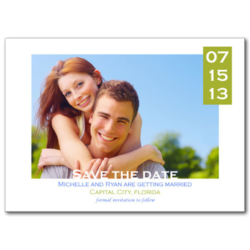 Freshly Framed Save the Date Card