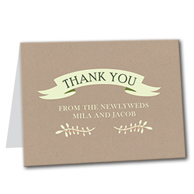 Garden Fresh Thank You Card
