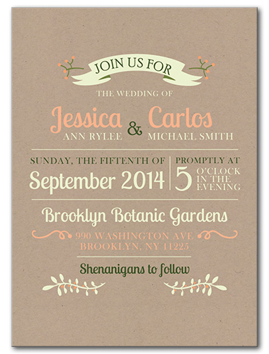 Garden Fresh Wedding Invitation