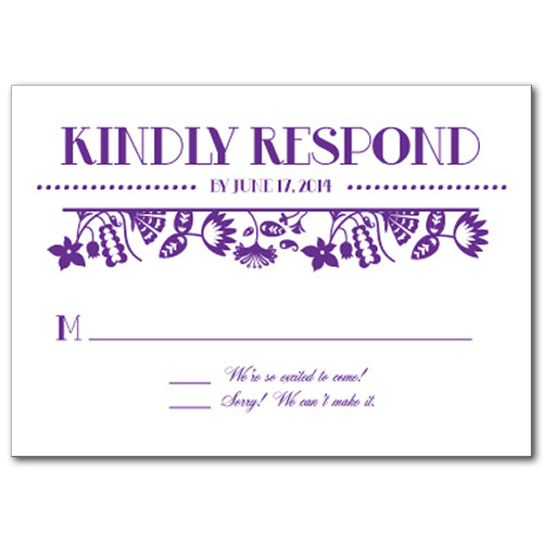 Garden Party Fun Response Card