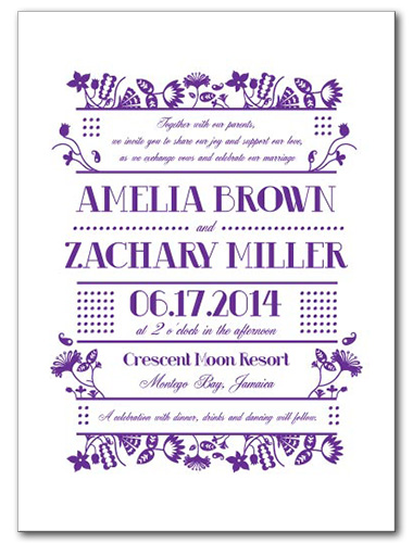 Garden Party Fun Wedding Invitation