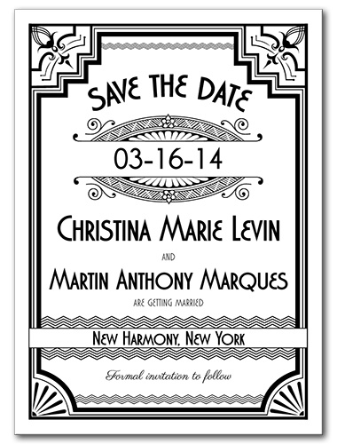 Getting Gatsby Save the Date Card