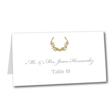 Gold Wreath Table Card