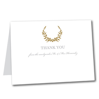 Gold Wreath Thank You Card