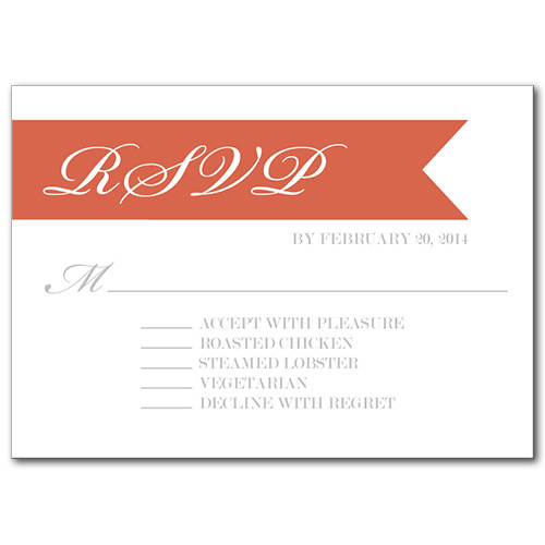Gracious Ribbon Response Card