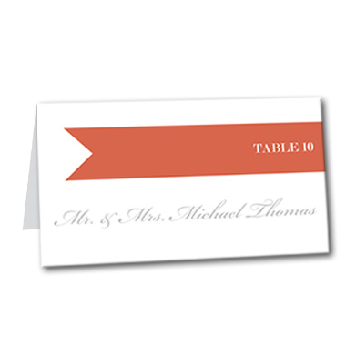 Gracious Ribbon Table Card