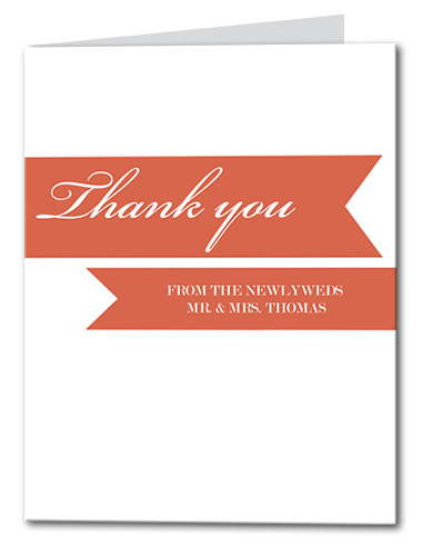 Gracious Ribbon Thank You Card