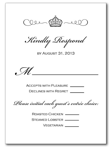 Grand Occasion Response Card