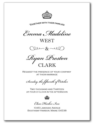 Grand Occasion Wedding Invitation