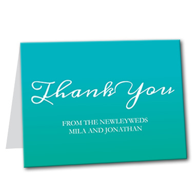 Growing Gradient Thank You Card