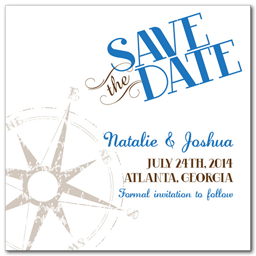 Guide the Way Square Save the Date Card