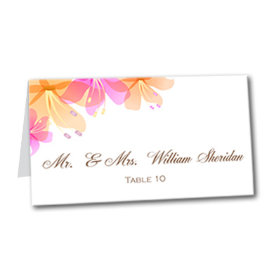 Hawaiian Bliss Table Card
