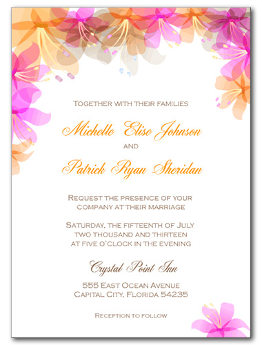 Hawaiian Bliss Wedding Invitation