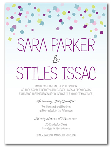 Hip Hip Hooray Wedding Invitation