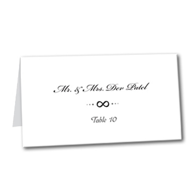 Infinite Love Table Card