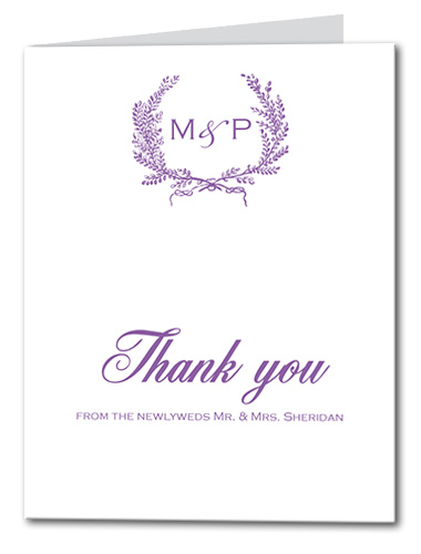 Lavender Wreath Thank You Card