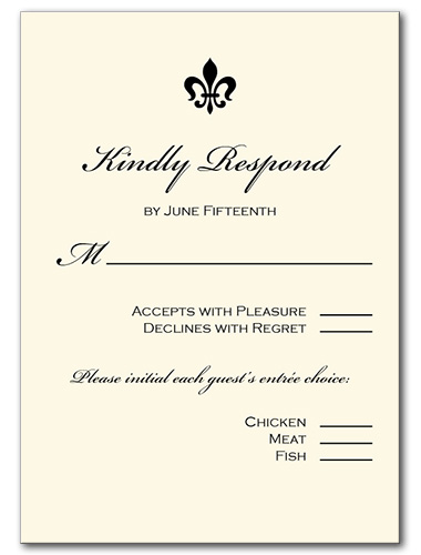 Light Luxury Response Card