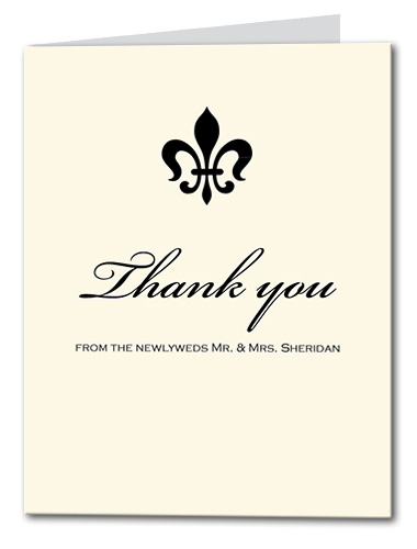 Light Luxury Thank You Card