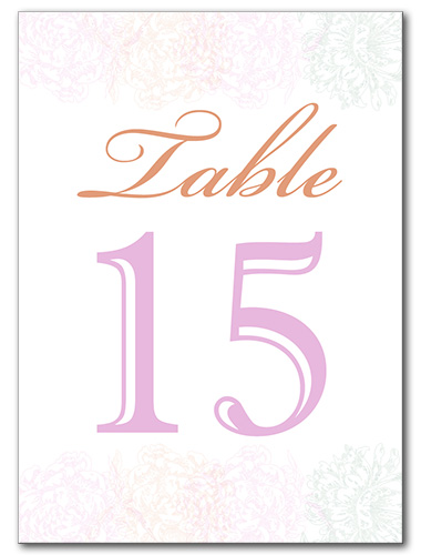 Light and Lovely Table Number