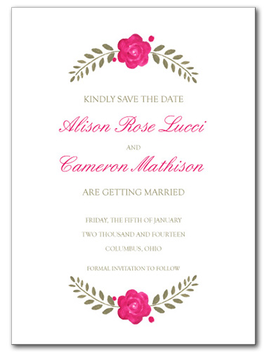 Love Blooms Save the Date Card