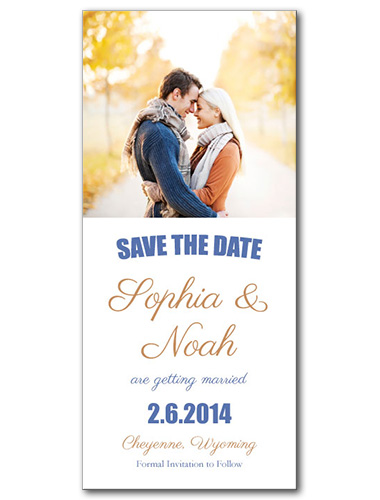 Love Divine Save the Date Card