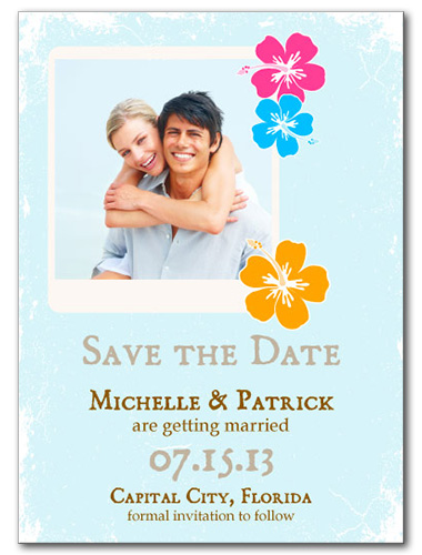Lovely Luau Save the Date Card