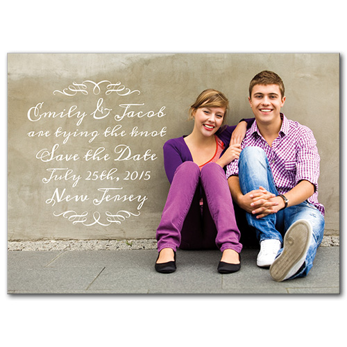 Lovely Script Save the Date
