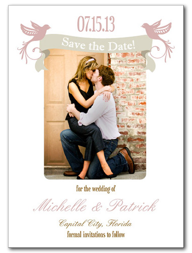 Lovey Dovey Save the Date Card