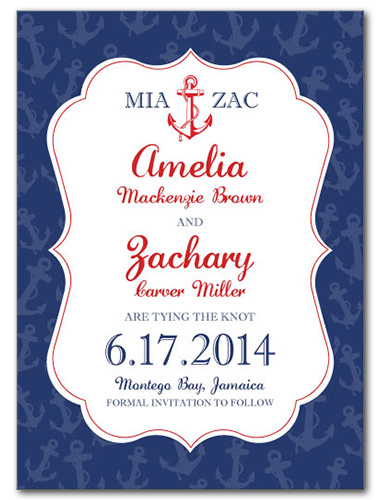 Maritime Fun Save the Date Card