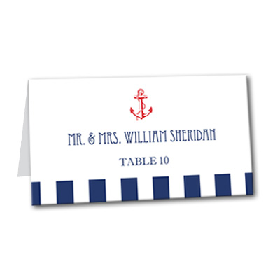 Maritime Fun Table Card