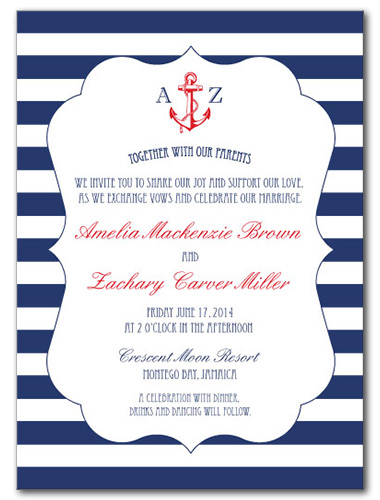 Maritime Fun Wedding Invitation