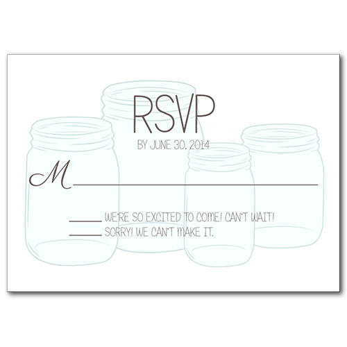Mason Jar of Love Response Card