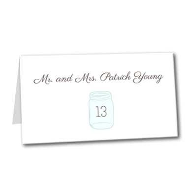 Mason Jar of Love Table Card