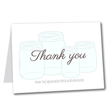 Mason Jar of Love Thank You Card