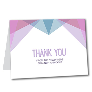 Modern Deco Thank You Card