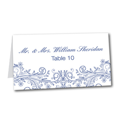 Modern Flourishes Table Card